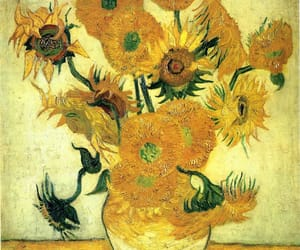 art, sunflowers, and yellow image