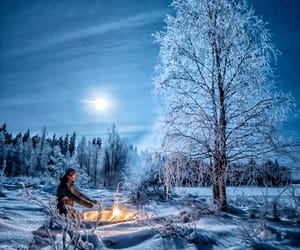 blue, campfire, and camping image