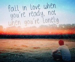 love, quote, and lonely image