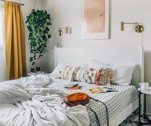 bedroom, interior design, and white image