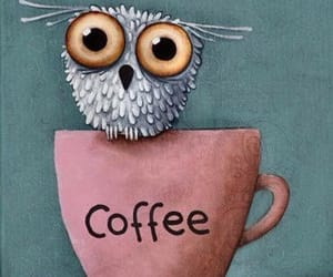 coffee, cup of coffee, and owl image
