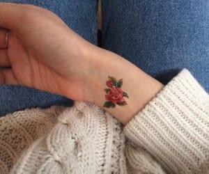 art, tatouage, and flowers image