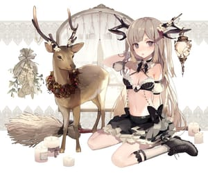 anime, art, and deer image