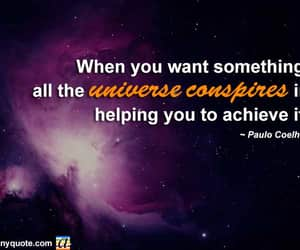 law of attraction, paulo coelho, and wisdom quotes image