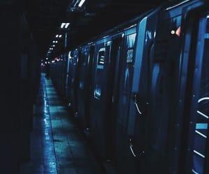 blue, train, and dark image