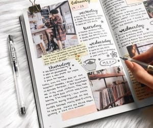 bullet journal, journal, and book image