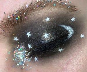 makeup, glitter, and stars image