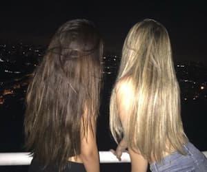 girl, night, and besties image