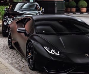 black, car, and Lamborghini image