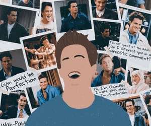 chandler, chandler bing, and friends image