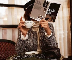 coffee, fashion, and book image