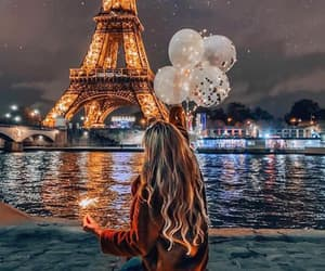 paris, girl, and night image