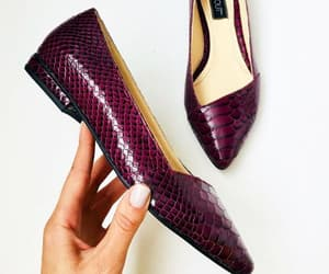 snake print, real leather, and burgundy shoes image