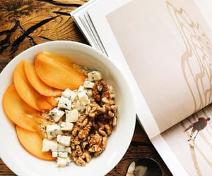 almonds, breakfast, and food image
