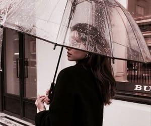 girl, rain, and style image