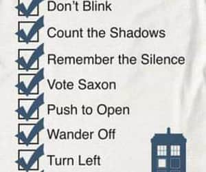 checklist, doctor who, and whovian image