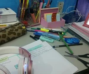 study, cadernos, and escola image