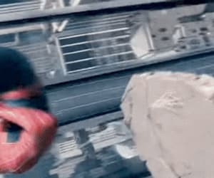 gif, spiderman, and spiderverse image