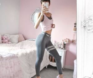 girly, gym, and outfit image
