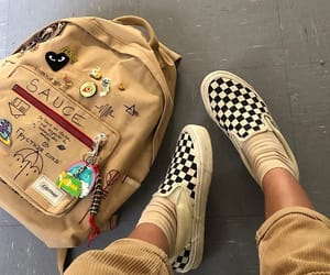 vans, aesthetic, and backpack image