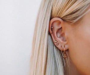 hair, earrings, and accessories image