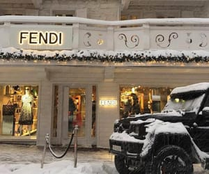fendi, luxury, and snow image