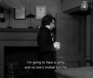party, quotes, and alone image