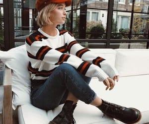 fall fashion, stylish, and sweater image