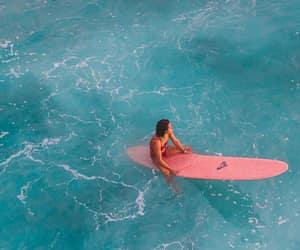 board, girl, and ocean image