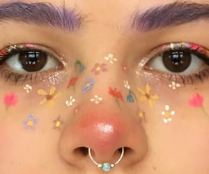 aesthetic, flowers, and make up image
