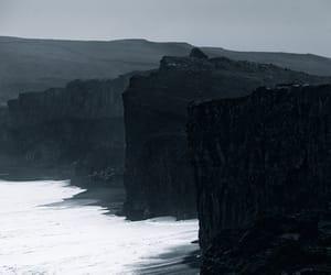 black, nature, and precipice image