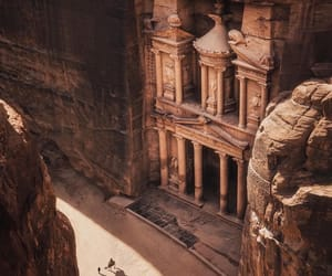 petra, stone, and travel image