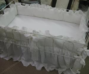 etsy, linen baby bedding, and baby bedding white image