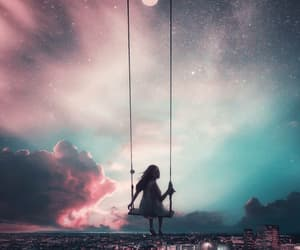dreaming, sky, and love image