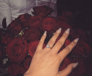 cute love, engagement ring, and couple goal image