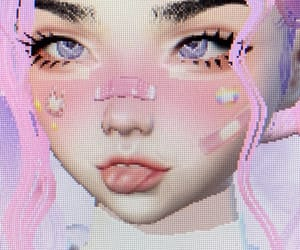 pink, cute, and cyber image