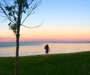 Lake Michigan, sky, and summer image
