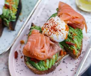 breakfast, paris, and smoked salmon image