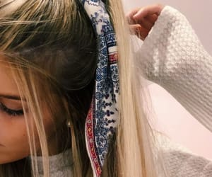 blonde, bow, and relaxed image
