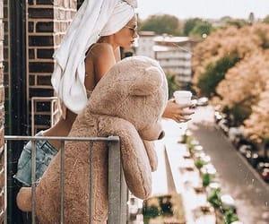 fashion, girl, and bear image
