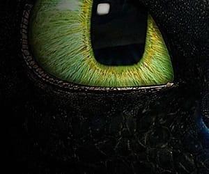 disney, eye, and toothless image