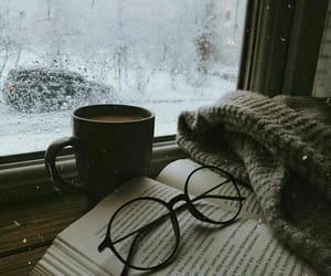 book, winter, and snow image