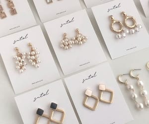 earrings, aesthetic, and jewelry image