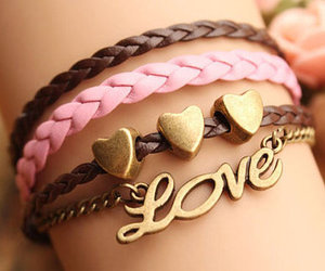 bracelets, love, and brown image