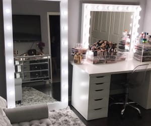 room, lights, and mirror image