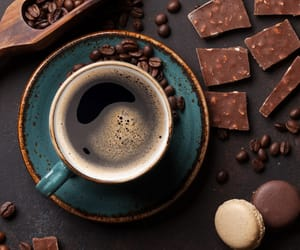 cafe, chocolate, and coffee image