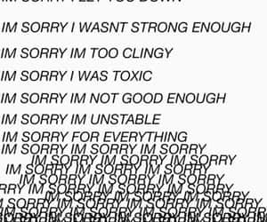 sorry, quotes, and sad image