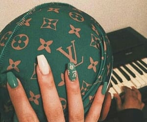 green, nails, and theme image