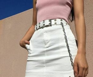 chain, white, and fashion image