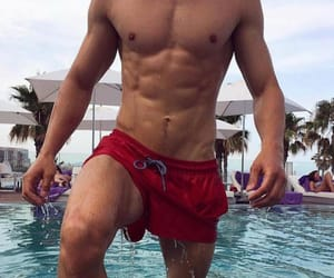 abs, guy, and pool image